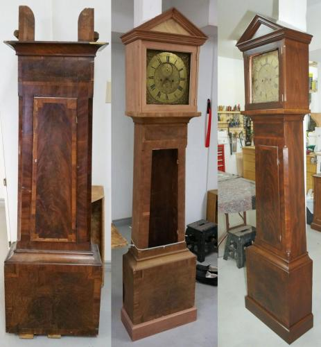 1760's Longcase Clock stages of restoration