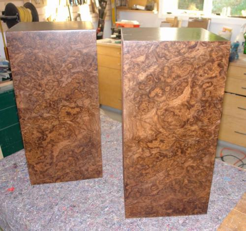 Re-veneered in Burl Walnut