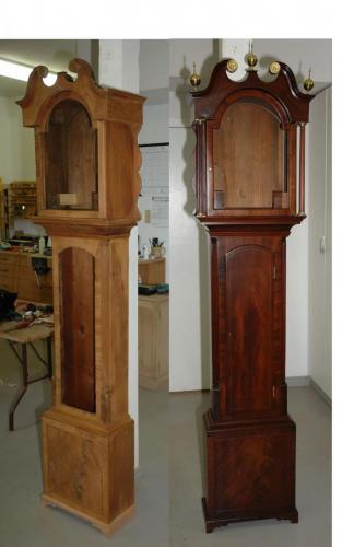 Victorian longcase clock refinished