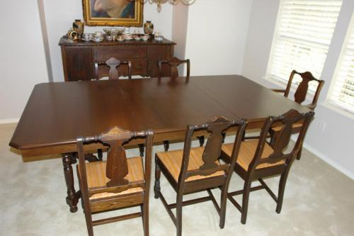 New larger table top to match existing dining room set